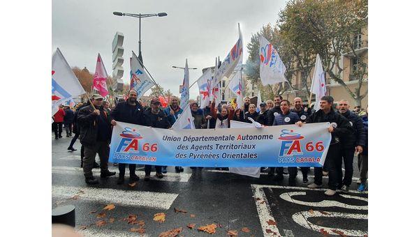 Les territoriaux de la FA-FPT massivement dans la rue le 5 décembre !