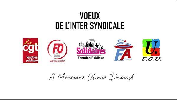 L'intersyndicale Fonction Publique adresse ses voeux au Secrétaire d'État à la Fonction Publique, Olivier Dussopt