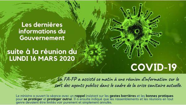 Compte rendu FA-FP - Réunion Fonction Publique Covid-19