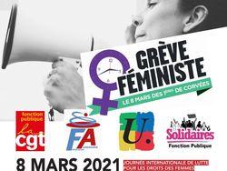 8 mars 2021 - Journée internationale de lutte pour les droits des femmes